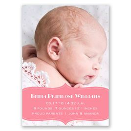 Sweet Sensation - Mini Birth Announcement