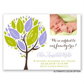 Family Tree - Mini Birth Announcement