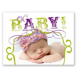 Cutie Pie - Petite Birth Announcement