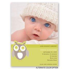 Owl Love - Petite Birth Announcement