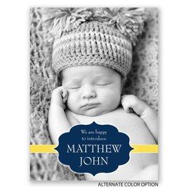 Stylish Intro - Petite Birth Announcement