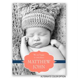 Stylish Intro - Petite Birth Announcement