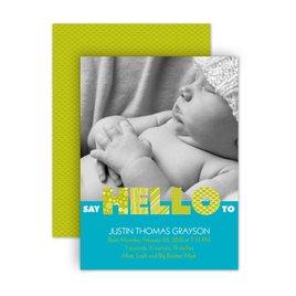 Birth Announcements: Say Hello Petite Birth Announcement