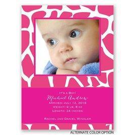Giraffe Spots - Petite Birth Announcement
