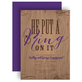 Engagement Party Invitations: Sassy Style Engagement Party Invitation