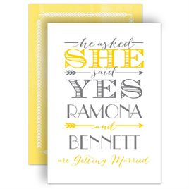Engagement Party Invitations: Modern Love Engagement Party Invitation