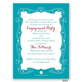 Modern Fairytale - Petite Engagement Party Invitation