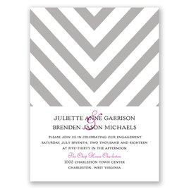 Splendid Chevron - Petite Engagement Party Invitation