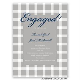 Dashing in Plaid - Petite Engagement Party Invitation