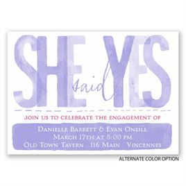 Paint the Town - Mini Engagement Party Invitation