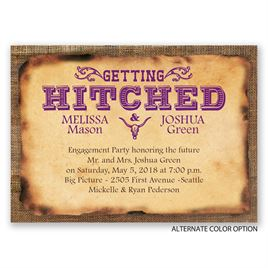 Getting Hitched - Mini Engagement Party Invitation