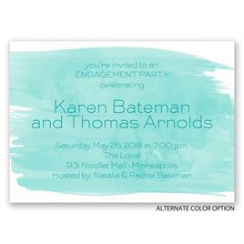 Strokes of Color - Mini Engagement Party Invitation