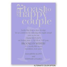 A Toast! - Mini Engagement Party Invitation