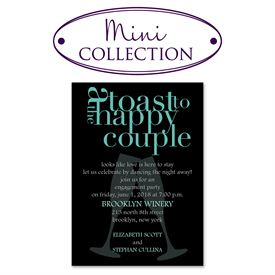 Engagement Party Invitations: A Toast! Mini Engagement Party Invitation