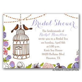 Retro Birdcage - Mini Bridal Shower Invitation