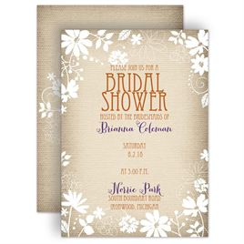 bridal shower invitations country whimsy bridal shower invitation