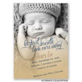 His First Breath - Mini Birth Announcement