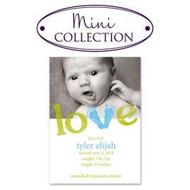 Birth Announcements: Little Feet Mini Birth Announcement