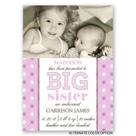 Big Sis Promotion - Mini Birth Announcement