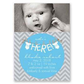 "He""s Here! - Mini Birth Announcement"