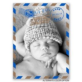 Special Delivery - Petite Birth Announcement