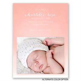 Watercolor Charm - Petite Birth Announcement