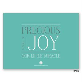 Precious Joy - Petite Birth Announcement