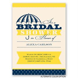 Sweet and Elegant - Petite Bridal Shower Invitation