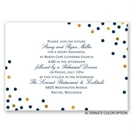 Confetti Fun - Mini Rehearsal Dinner Invitation