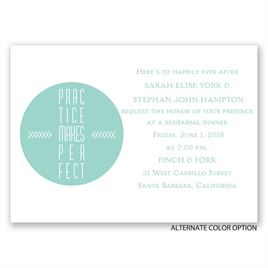 Practice Makes Perfect - Mini Rehearsal Dinner Invitation