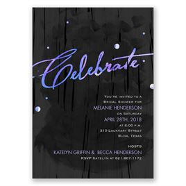 Make a Statement - Orchid - Bridal Shower Invitation