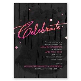 Make a Statement - Posie Pink - Bridal Shower Invitation