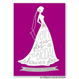 Chic Typography - Bridal Shower Invitation