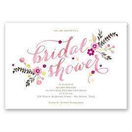 Heart and Whimsy - Melon - Bridal Shower Invitation