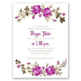 Floral Beauty - Petite Bridal Shower Invitation