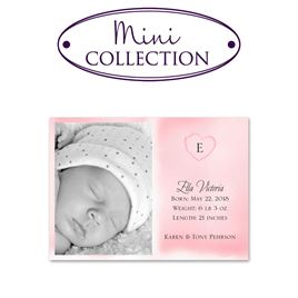 Birth Announcements: Little Heart Mini Birth Announcement