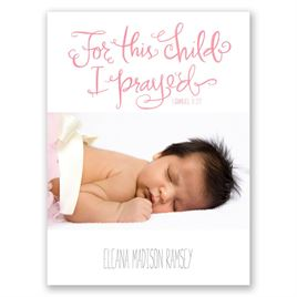 Power of Prayer - Petite Birth Announcement