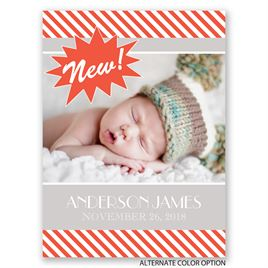 New! - Petite Birth Announcement