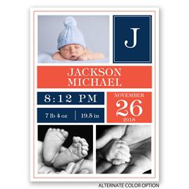 Bundled Blocks - Petite Birth Announcement