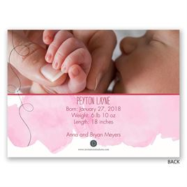 Hello World - Petite Birth Announcement