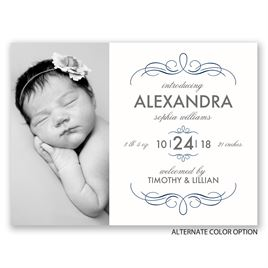 Sweet & Sophisticated - Petite Birth Announcement