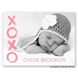 XOXO - Petite Birth Announcement