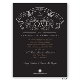 With Love - Petite Engagement Announcement