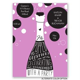 Popped the Question - Petite Engagement Party Invitation