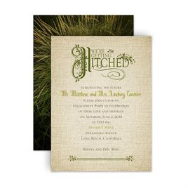 Engagement Party Invitations: Rustic Charm Petite Engagement Party Invitation