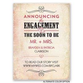 Antique Details - Petite Engagement Announcement