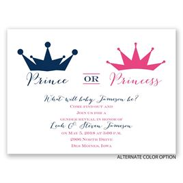 Prince or Princess - Petite Gender Reveal Invitation