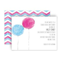 DW37291NFCBBS Party Balloons Petite Baby Shower Invitation TP gender reveal invitations invitations by dawn,Baby Gender Reveal Invitations