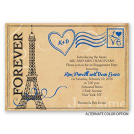 Pretty Postage - Engagement Party Invitation