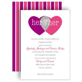 Engagement Party Invitations: Shared Love Mrs. and Mrs. Engagement Party Invitation